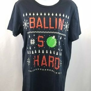 AMERICAN EAGLE Outfitter Christmas T-shirt S